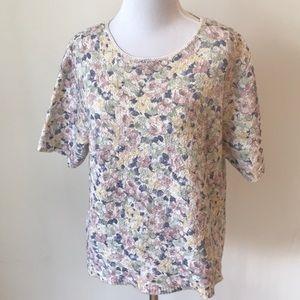 🆕Vintage Floral Print Sweater